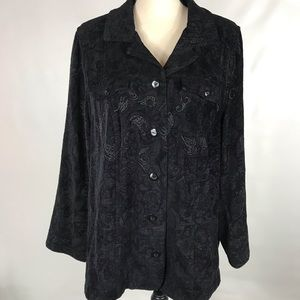 Liz And Me Light Weight Black Paisley Jacket